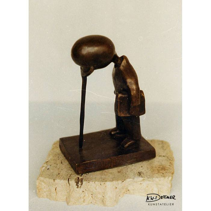 Intellektueller · Bronze · 12 x 12 cm